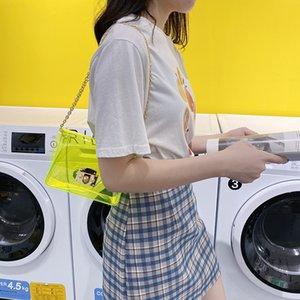 2020 new Korean version of the shoulder bag women's casual fashion lock small square bag diagonal cross chain