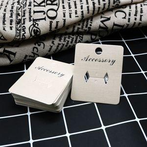Monili su misura della carta del vassoio dell'esposizione di anello di carta su ordinazione beige DisplayPackaging 5x6cm 100pcs logo su misura lotto per la carta d'imballaggio degli anelli