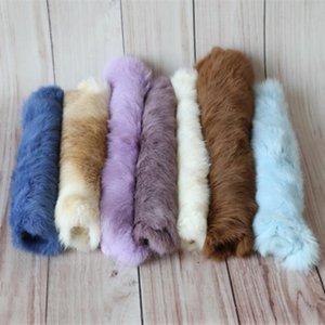 Baby photography Blanket Real Fur Basket Filler Newborn Photo Prop Vintage Natural Rabbit Fur Mini Blanket Posing Backdrop CX200704