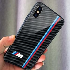 ماركات السيارات شعار الهاتف زجاج غطاء الهاتف لحالة فون 7 8 زائد إكسس ماكس 11pro سامسونج Note9 Note10 S20 S10 S9 بالإضافة لايت