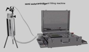 mejor semi-auto portátil 510 vape cartucho 0.5 ml 1.0 ml máquina de llenado de aceite que sostiene la maleta portátil máquina de inyección