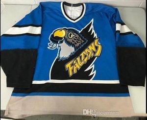 Hockey Bauer jérsei feito sob encomenda 5XL 6XL Springfield Falcons Vintage Jersey Snoop Dogg L Gosselin Mass Bordado costurado Personalizar qualquer número um