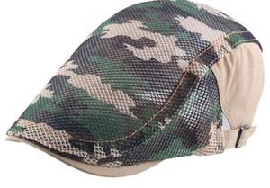 التمويه الصيف شبكة القماش خياطة جوفاء قبعة تنفس إلى الأمام رقيقة جدا قبعة ظلة