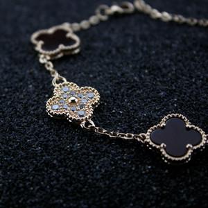 Frauen natürlicher Diamant-Perlmutt Armband Frau Silber Anhänger Blumen Armband Valentinstag Schmuck