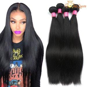 10 Bundles Gaga queen Hair Peruvian Straight Virgin Hair Unprocessed Peruvian Brazilian Indian Straight Human Hair Bundles Natural Color