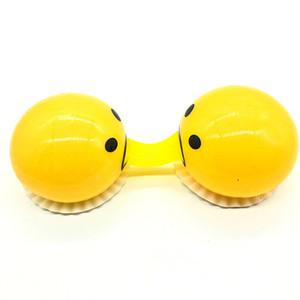 Новизна Gag Squishy Игрушка желток Антистрессовая Reliever творческий подарок желтого Яйцо Рвота Шутка Шаровой Сожмите Забавные игрушки