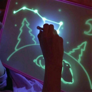 Draw with Light-fun and Developing Novelty Games Toy Fluorescent Luminous Board In Dark Children Kid Funny Big Pack 1Pen   Set for kids