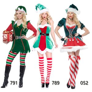Little Helper Pixie Womens Natal Xmas Fancy Dress Outfit da Elf Santa Costume