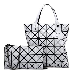 Rose femmes Sugao sacs à main épaule sac fourre-tout concepteur sac à main nouvelle dame de la mode sac à main géométrique couture sac à main rhombus 2pcs / set BHP