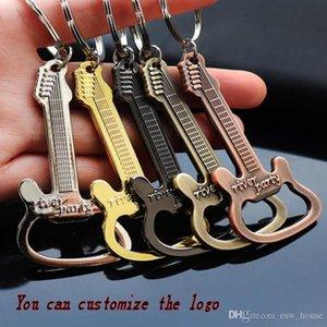 Creationary aleación de zinc botella de cerveza de la botella de la guitarra abridor de botellas abridor de llavero llavero anillo dominante de la cadena de