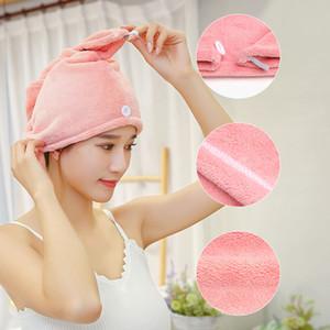 1pcs microfibra Depois Toalha Chuveiro Cabelo de secagem do envoltório Womens meninas de Lady Quick Dry cabelo Hat Cap Turban Envoltório principal banho Tools