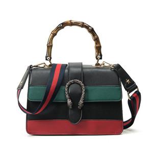 Дизайнер - женщины сумка женская сумка двойной змея голова сумка крест тела сумка сумки с бамбуковой ручкой