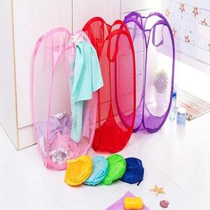 Panier de rangement pour bébé Pure Color Portable pliant évider Vêtements Chaussures jouets Mêle Boîte de rangement Paniers de lavage des vêtements WY434Q