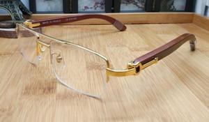 2020 Vente en gros bois Lunettes de soleil pour les femmes surdimensionné sport lunettes sans monture en corne de buffle Femme Protection UV Hommes Oculos De Sol Femininos