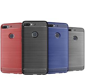 من ألياف الكربون نسيج سليم درع ناعم TPU حالة تغطية ل HTC الرغبة 12 زائد U12 LIFT U12 PLUS U11 LIFT 350PCS / LOT