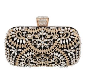 Crystal Pearl festa de casamento Beading nupcial lindo Diomand Evening Bag Mulheres Clutch Bag Floral Bags CROSSBODY Bolsas