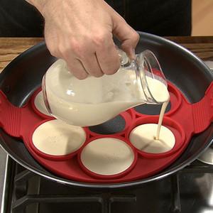 Silicone crêpière antiaderente torta Stampi Pan flip Strumenti Anelli Egg Mold pasticceria Mat cottura Accessori di frittura dell'uovo