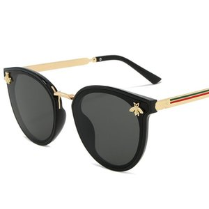 2020 Luxus Bee Mode für Frauen Sonnenbrillen Men Square Brand Design Sun-Glas-Oculos Retro Male Eisen Alikiai XcNUb