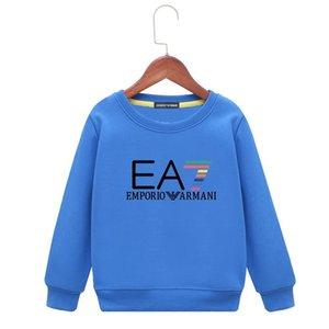 kids hoodies 2019 Spring New Product Children Thin Money Printing Sweater Baby Pure Cotton Long Sleeves World Bottoming colors