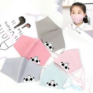 Niños desechables cara de dibujos animados máscaras protectoras capas de máscara espesa la cara con la máscara de la válvula del respiradero PM2.5 anti polvo para los niños