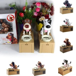 Netter Choken Greedy Dog Modell Piggy Bank Geld sparen Pot Münze Kreative Lagerung Cartoon-Welpen Hungry Robotic Dog-Geld-Kasten-Party Favor RRA2637