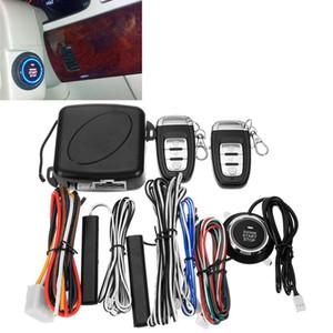 DragonPad 9Pcs / Set voiture SUV entrée sans clé de démarrage du moteur Système d'alarme Bouton poussoir de démarrage à distance d'arrêt automatique Accessoires voiture