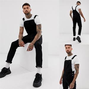مصمم أزياء رجالي رومبير رجل أسود ممزق عالية مخصر سليم السراويل الشاملة أزياء الرجال عارضة السراويل