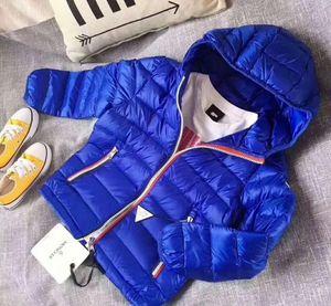 Haute qualité marque les enfants hiver outwear hiver Down détail enfants Vestes bébé manteau bas garçons Manteaux 4-10T Épaississement