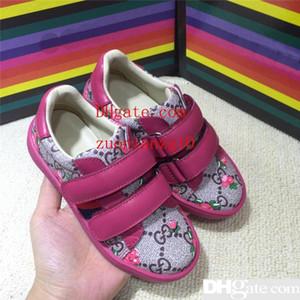 Desinger todder Ragazzi scarpe di lusso Ragazze Sneakers Hook Loop bambini Sneaker casual scuola Indossare scarpe di avanguardia di modo bambini Scarpe cvv1