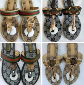 2020 Luxury designer Women Slippers gg Open Toe Summer Slip On Flat Slides Beach Louìs Vuìttõn Shoes Female Flip Flops Fashion sandals
