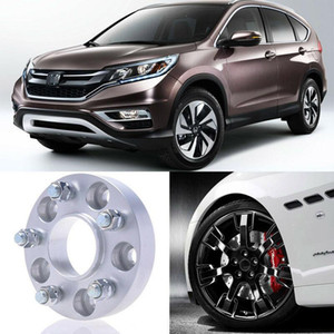 2pcs 25mm Thick PCD 5x114.3 64.1CB Aluminum Wheel Spacers Adapters For Honda CRV
