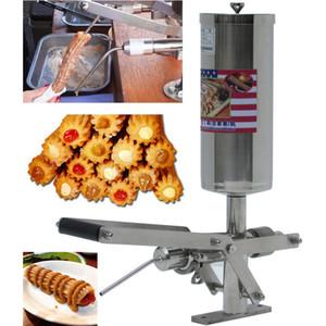 Aço inoxidável manual Comercial espanhol Churros Filler Máquina 5L Churros Criador máquina de enchimento máquina de enchimento Churro Jam