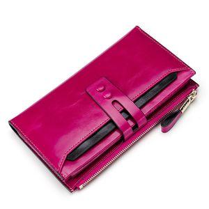 Fashion Women Wallets Genuine Leather Female Wallets With Phone Pocket Ladies Purse Hasp Women Purse Wallet Clutch Cartera Mujer Y190701