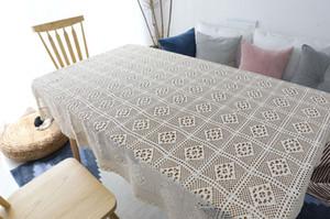 Ländlichen Stil Hand häkeln Abdeckung Handtuch Baumwolle Tischdecke gewebt Tischdecke Spitze ausgehöhlten Tischdecke Klavier Handtuch Fotografie Requisiten