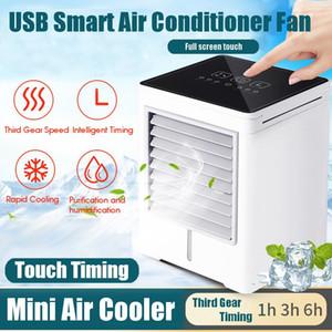 USB à écran tactile Climatisation Mini Timing appareils Air Cooler Petit air du ventilateur de refroidissement maison d'été Conditionneur Portable