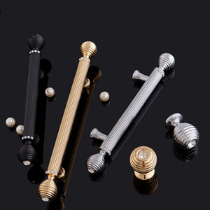 European Door Handles Inlaid Crystal Furniture Handles & Knobs Cupboard Wardrobe Drawer Wine Cabinet Pulls