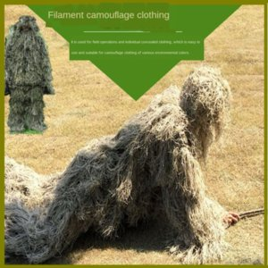fake jungle hunting suit 3D outdoor Woolen fake camouflage jungle hunting suit 3D camouflage clothing outdoor woolen clothing