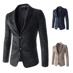 2015 New Style Men Single-Breasted Two-Button Suit Suede Leisure Suit MEN'S Coat
