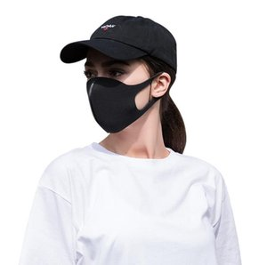 2020 Novo Em estoque! Máscara Facial Anti Poeira cobrir a boca PM2.5 Respirador Dustproof Anti-bacterianas lavável reutilizável Ice Silk algodão Máscaras Tools