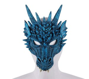 Mardi gras Halloween Carnival Party PU schiuma 3D Animal Dragon Mask Masquerade Maschera GB426