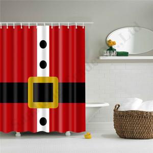 2020 크리스마스 커튼 목욕 커튼 57 스타일 방수 샤워 커튼 폴리 에스테르 산타 패턴 욕실 의류 180 * 180cm A110704을 눈사람
