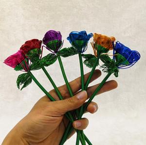 Iron Roses Flower Tourist Souvenirs Handmade Rose Ornaments Home Decoration