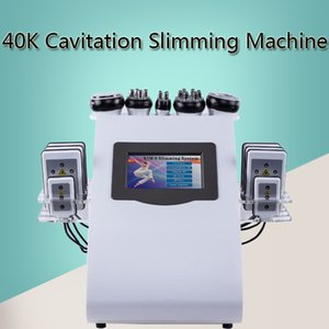6 IN 1 초음파 Cavitation 기계 Cavitation Lipolaser RF Vaccum 슬리밍 바디 조각 컨투어링 쿨 페이스 리프팅 장비