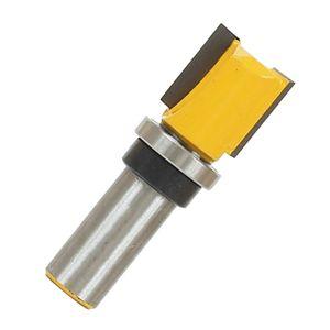 Bisagra de embutir Flush recorte de plantilla Router Bit punta de carburo de cortadores, Cuerpos de acero endurecido sólido con anti-contragolpe Diseño