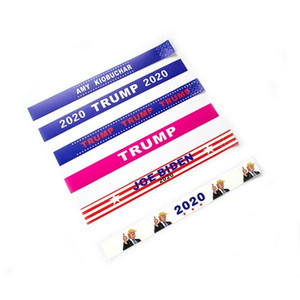 2020 Donald Trump Wristbands Tear Proof Paper Tyvek Bracelet Waterproof Wrist Band Trump Supporters Bangle Fashion Accessories GGA2143