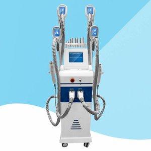 Новая Модель !!! 4 головки Cryotherapy уменьшая тучную замерзая талию машины уменьшая машину RF кавитации тучное уменьшение Lipo лазер CE / DHL