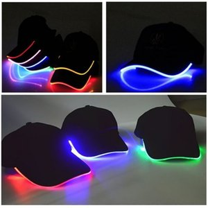 LED Light Up Baseball Caps Glowing Adjustable Hats Luminous Holiday Hat Unisex for Party Hip-hop Running and More