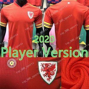2020 2021 Gales del jugador versión del fútbol camiseta de la selección bala 20 21 camiseta de fútbol jugador