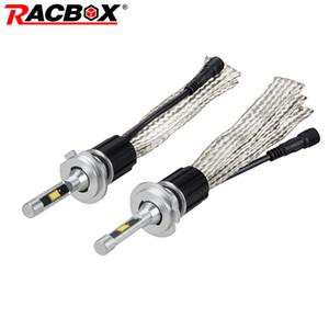 RACBOX Auto LED Scheinwerferlampe Licht Lampe Kugel Kupfergürtel Stil 72W 7000LM H1 H7 H8 H9 H11 9005 HB3 9006 HB4 H4 Hi-Lo 12V 24V