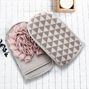 Exfoliating Badhandschuhe Beidseitige Bad Handschuhe mit Blumen-Duschen Körper Scrubber Körperreinigungsbürste Handschuhe 3 Farbe DHB20